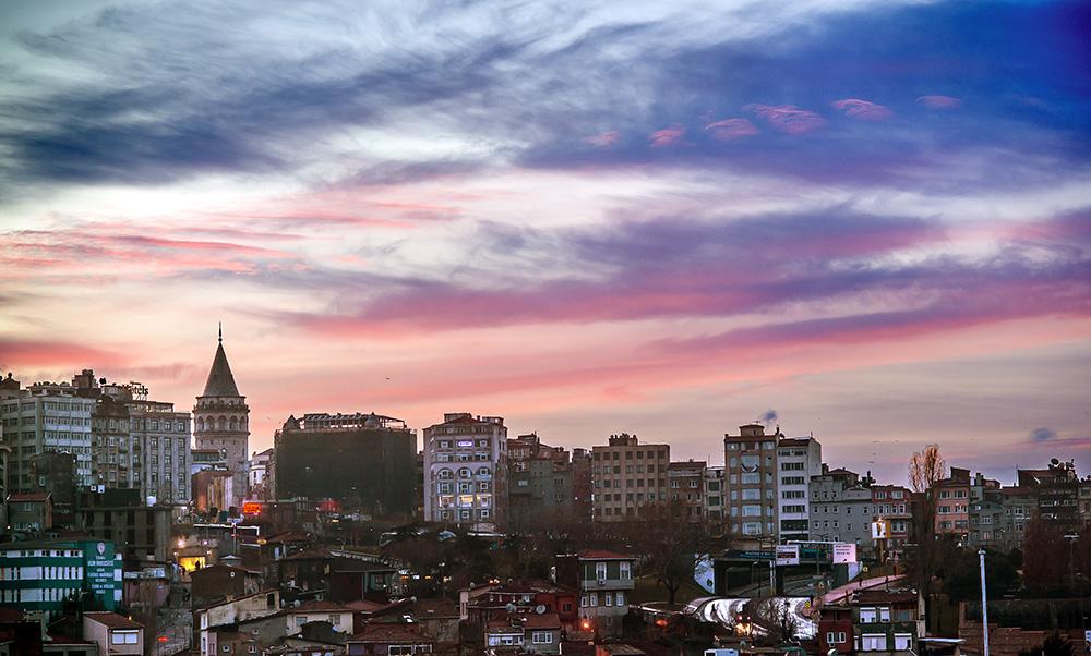 Galata Tower sunrise