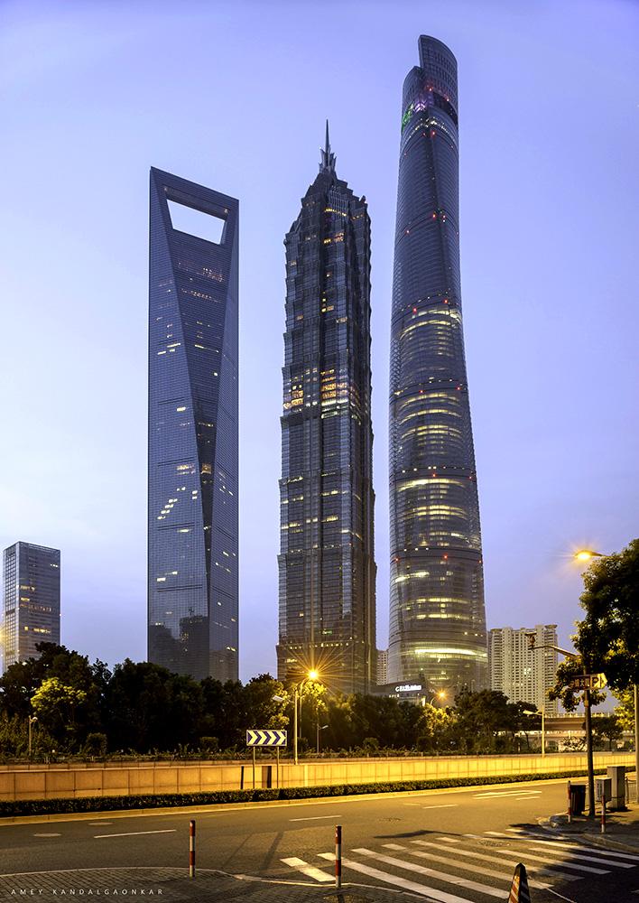 Triscrapers Shanghai